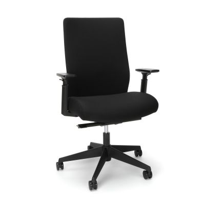 Affordable Black Upholstered Office Chair with Adjustable Lumbar, Durable Black Upholstered Office Chair with Adjustable lumbar, durable office chair, affordable office chair, office chair with lumbar, black office chair, grey office chair